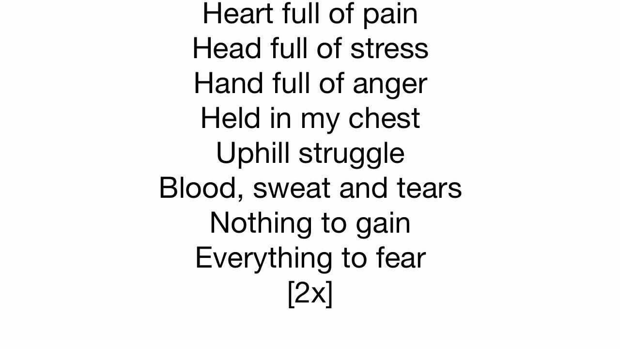 Linkin Park Nobody S Listening Lyrics On Screen Youtube Hand full of anger, held in my chest. youtube