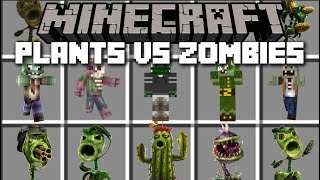 Minecraft PLANTS VS ZOMBIES MOD / DEFEND THE PORT AND THE SIMPSONS!! Minecraft