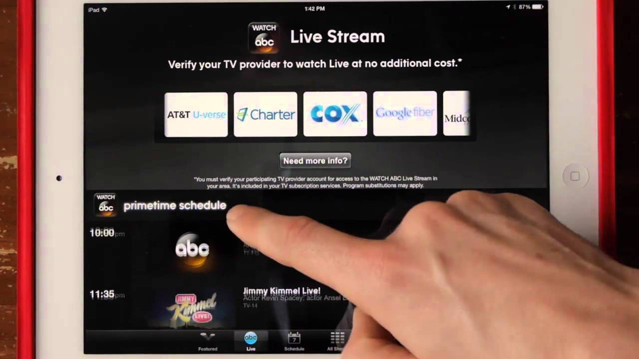 watch abc review abc app for streaming video on ipad