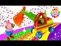 Construction Vehicles for Kids - Excavator Puzzle with Peppa Pig
