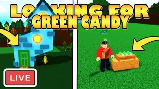 🔴LIVE🔴 LOOKING for GREEN CANDY (RARE) | Build a Boat for Treasure ROBLOX