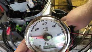 Подключение тахометра к Honda BF 15