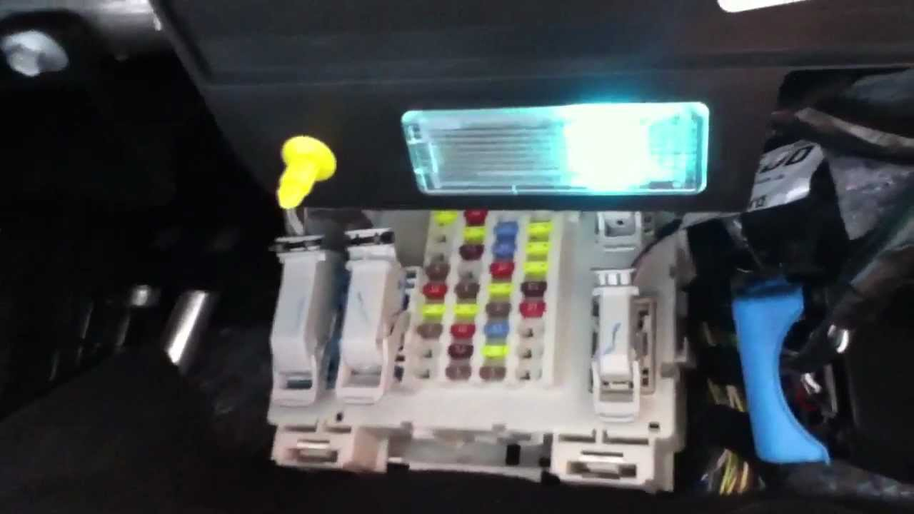 maxresdefault fuse box location in a 2013 ford focus youtube 2014 ford fusion hybrid fuse box at edmiracle.co
