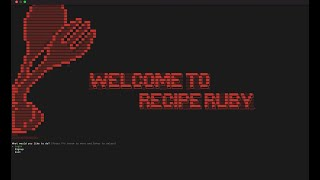 Recipe Ruby - CLI Application