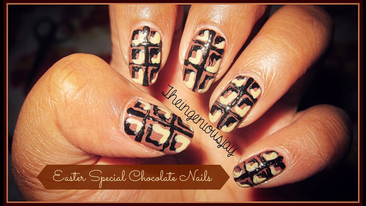 Easter Nail Art Chocolate Nails Youtube