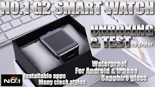 NO.1 G2 Smartwatch [REVEW & UNBOXING] Sapphire Glass, Waterproof - 1:1 Samsung Galaxy Gear 2 Clone