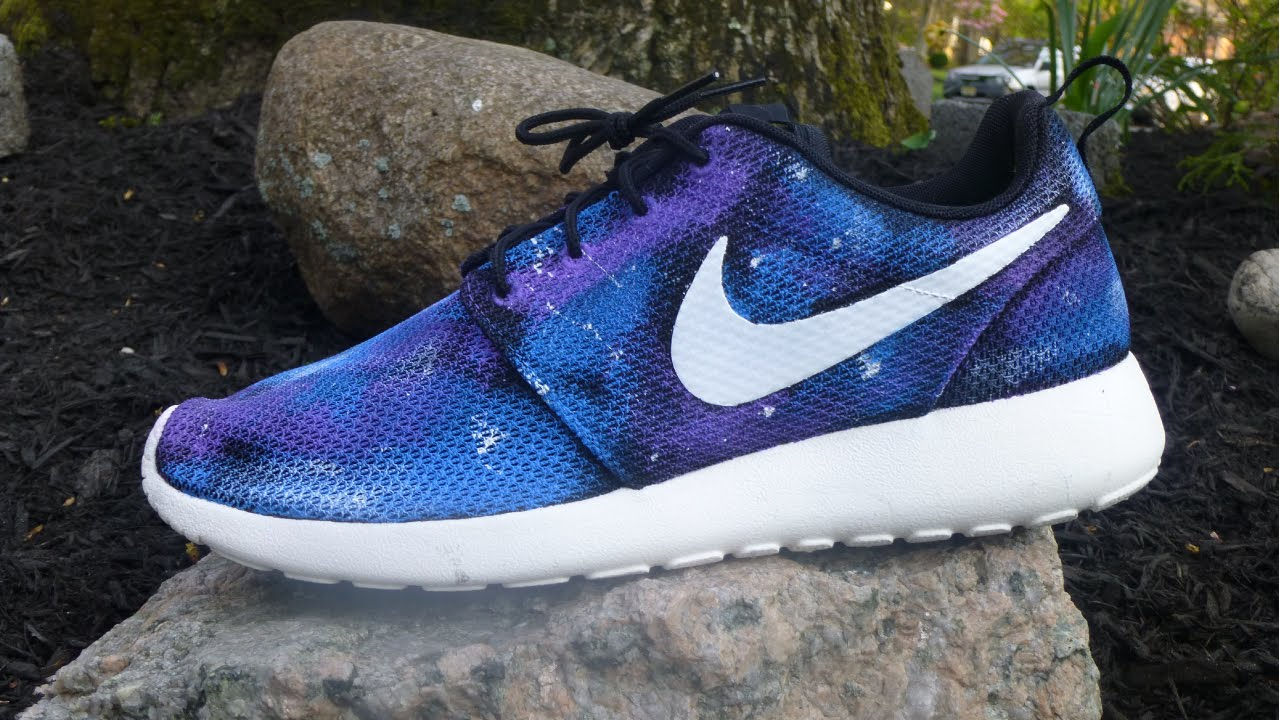 new style 58843 f6dc0 nike roshe run men custom galaxy