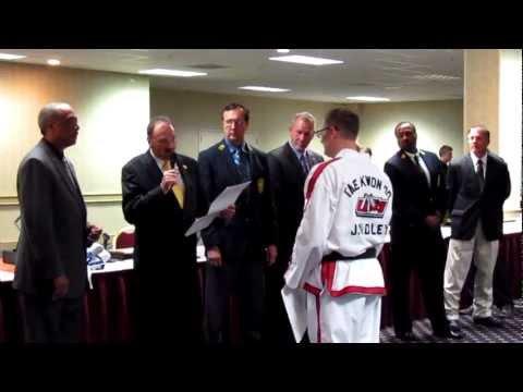 Grandmaster Robert Dunn Promotes Master Jason Wadley to 8th Dan Black Belt  in Tulsa, Oklahoma