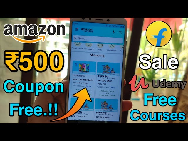 Amazon Prime Day ₹500 Coupon Free & Recharge Offers, Flipkart Sale, Free Testbook & Udemy Courses