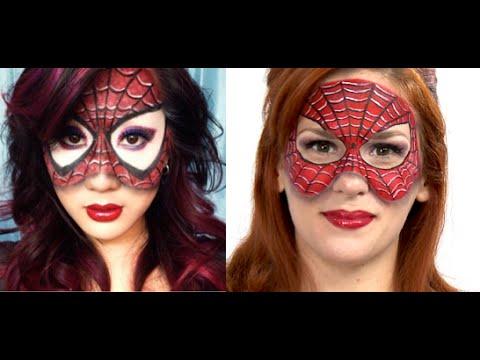 Halloween Tutorial: Spiderman Mask - YouTube