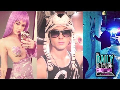 "Miley's Sexy Costume! Emblem3 'The Fox"" Parody Video! Justin Bieber Defends Chris Brown!"