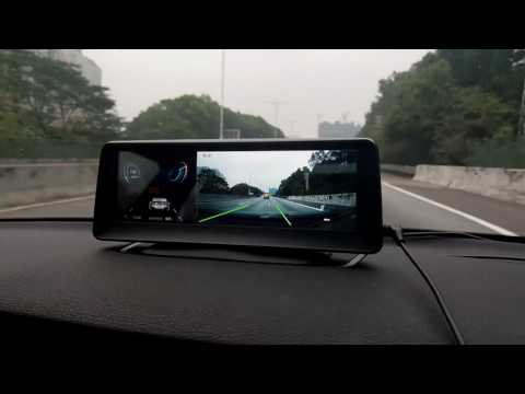 how ADAS(Advanced Driver Assistance System) works in an 8inch DVR with navigation
