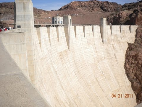 Views of Hoover Dam and Lake Mead in Nevada and Arizona, USA Part 1 of 2