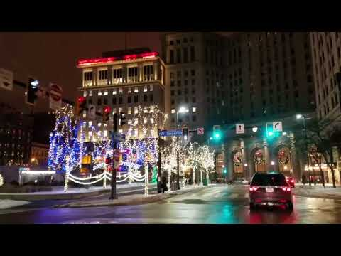 2017 Downtown Cleveland Holiday and Christmas Lights!