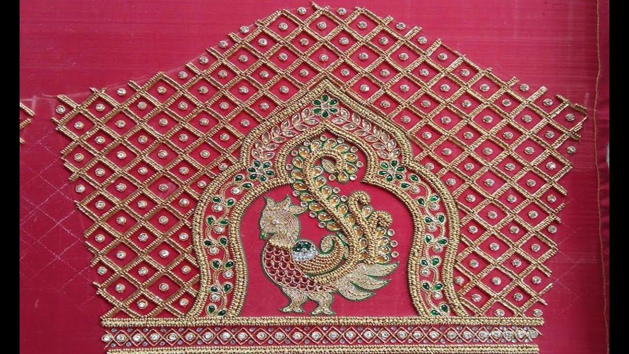latest aari embroidery work blouse sleeve designs