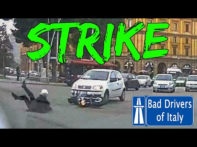 BAD DRIVERS OF ITALY dashcam compilation 01.08