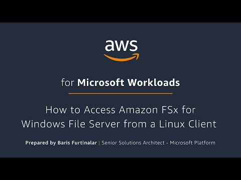 How to Access Amazon FSx for Windows File Server from a Linux Client
