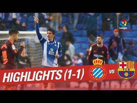Resumen de RCD Espanyol vs FC Barcelona (1-1)