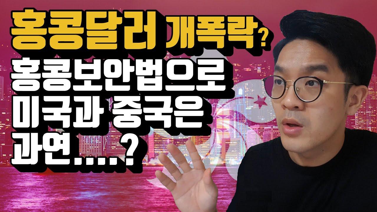 홍콩보안법으로 미국과 중국의 관계는 과연..... ft. 홍콩달러 개폭락