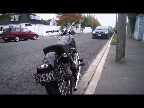 1951 Matchless moterbike start up