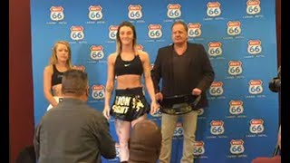 Amy Pirnie vs. Sandra Godvik - Weigh-in Face-Off - (Lion Fight 54)