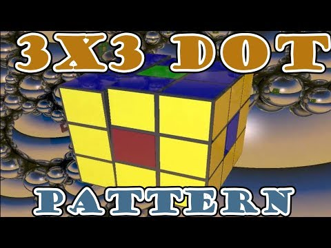 3X3 RUBIKS CUBE DOT PATTERN DONUT PATTERN TUTORIAL No Algorithms in 4K High Quality