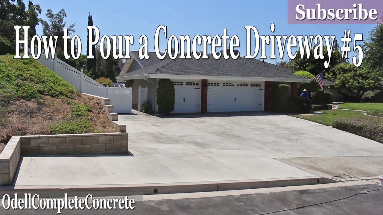 How to pour a concrete driveway 5 diy youtube for How to pour a concrete driveway