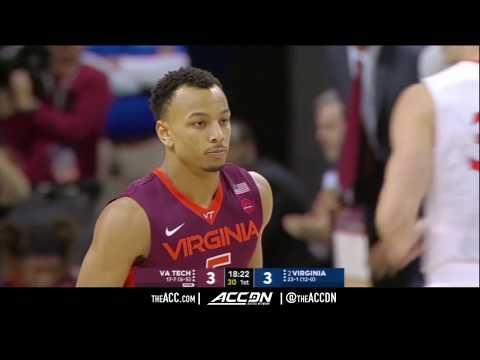Virginia Tech vs Virginia College Basketball Condensed Game 2018