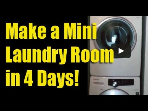 Make a Mini Laundry Room in 4 Days YouTube