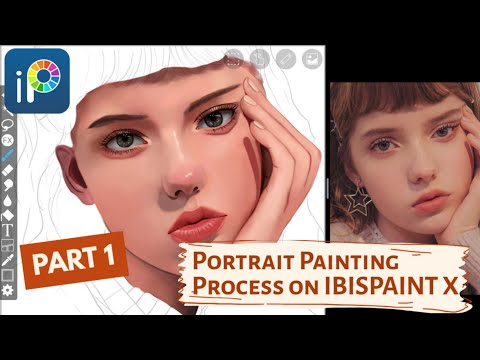 Painting Process of SKIN, EYES & LIPS + ART TIPS   Realistic Portrait on IBISPAINT X