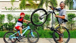 자전거 혼자타기 재미없어요! 예준이와 아빠의 자전거 쇼핑 바이크 같이 타기 Kids Ride Bike Shopping Bicycle Video for Kids