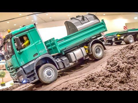 BIG RC machines at the bridge construction site!