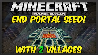 minecraft pocket edition seeds stronghold seed w end portal 2 villages   mcpe