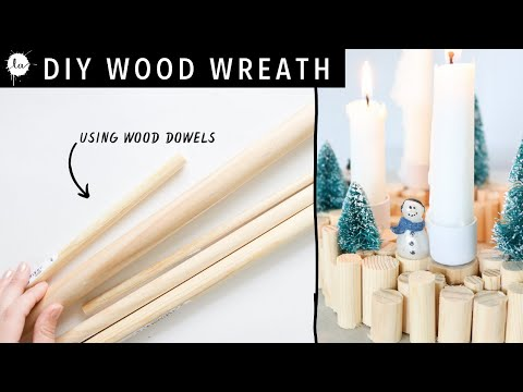 Christmas Wood Wreath Candle Holder DIY tutorial
