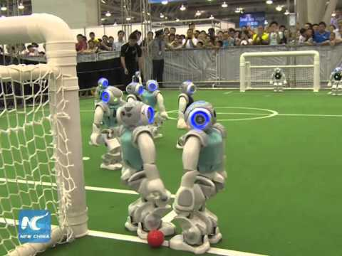 Robots take the soccer pitch at RoboCup 2015