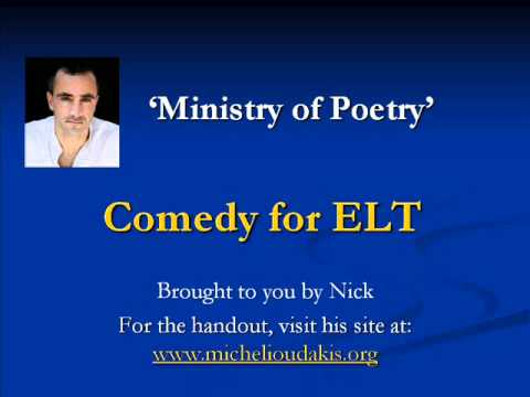 Comedy for ELT - Ministry of Poetry