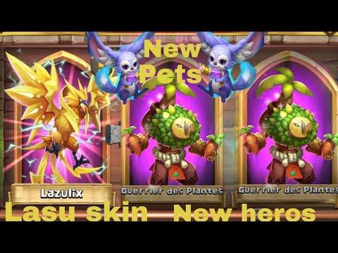 Castle Clash Gameplay Guerrier Des Plantes, Skin Lazulix, Fennec