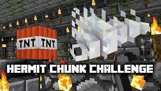 Minecraft: Hermit Chunk Challenge -10- Death by Silverfish + How to catch Endermen ✔