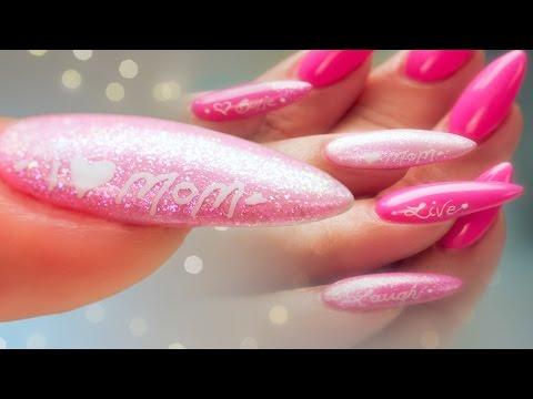 Mother's Day Nail Art - Pro Tips: Gel Polish and Calligraphy Pen