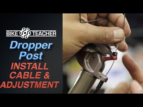 How To Install a Cable in a Dropper Seat Post. Part 4
