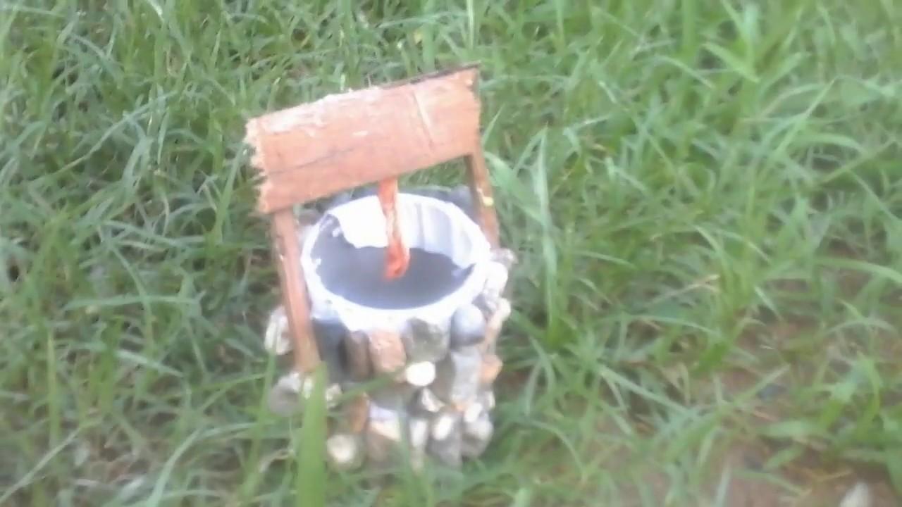 Como Hacer Un Pozo Miniatura En El Jardín