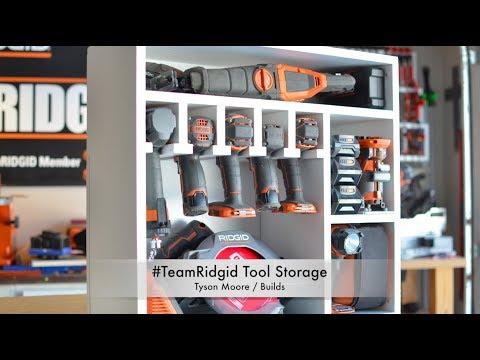 Making a #TeamRidgid Tool Storage Shelf