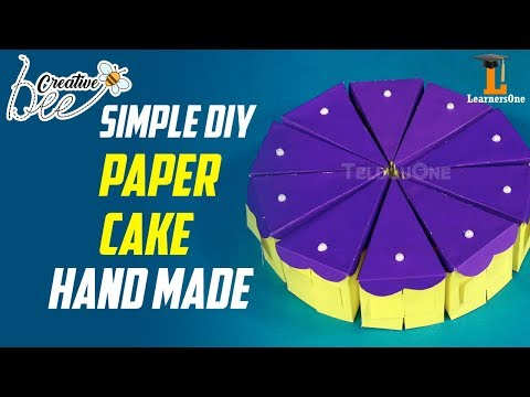 Paper Cake Tutorial | Simple DIY | How to Make Birthday Cake | LearnersOne