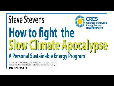 How to fight the Slow Climate Apocalypse? A Personal Sustainability Energy Program.