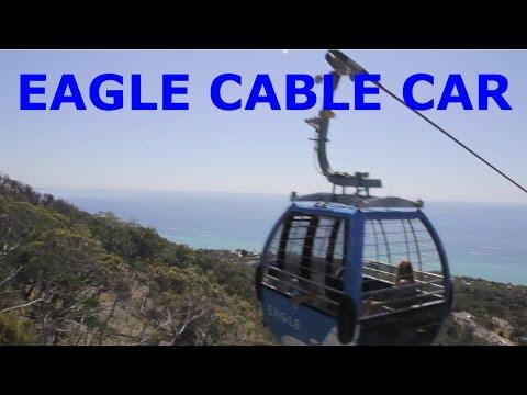 Eagle cable car at Arthur's seat. Xe cáb ở điạ phương Arthur's Seat Melbourne Australia