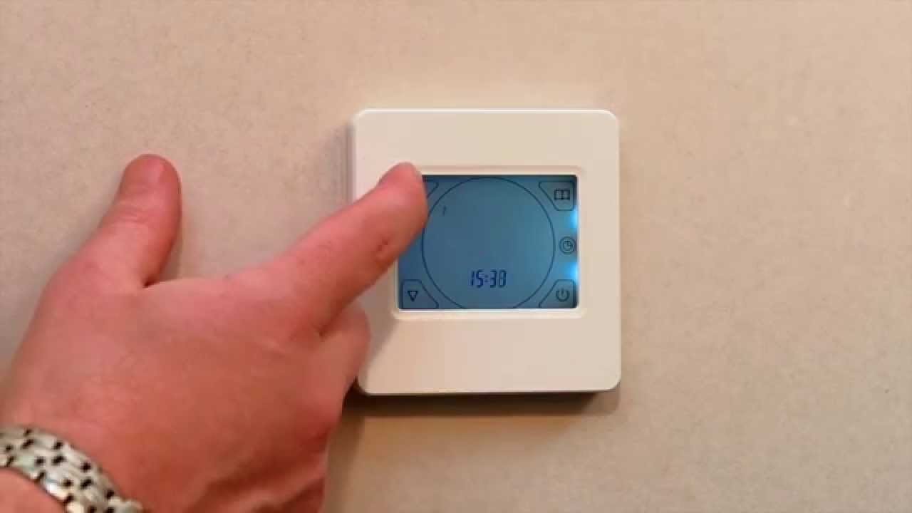 hight resolution of how to program underfloor heating thermostat