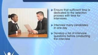 Check out the full course at http://bit.ly/2wvbrqs conducting interview is a key part of filling an open position. there are several techniques that can ...