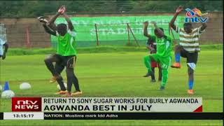 Sony Sugar striker,  Enoch Agwanda wins Sportpesa player of the month award