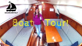 Boat Tour: Welcome Aboard our Small Sailboat | ⛵ Sailing Britaly ⛵