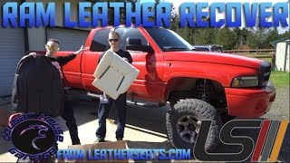2ND GEN DODGE LEATHER SEAT COVER INSTALL Cougar House Films Ep.145